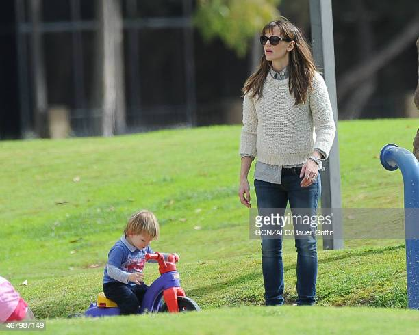 Jennifer Garner and Samuel Affleck are seen on February 08 2014 in Los Angeles California