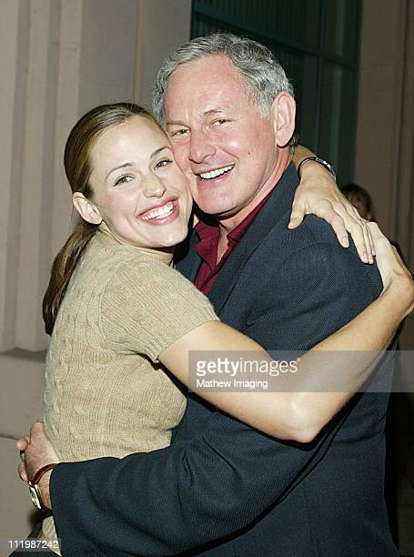 Jennifer Garner and Victor Garber during Behind The Scenes Of Alias at ATAS in North Hollywood CA United States