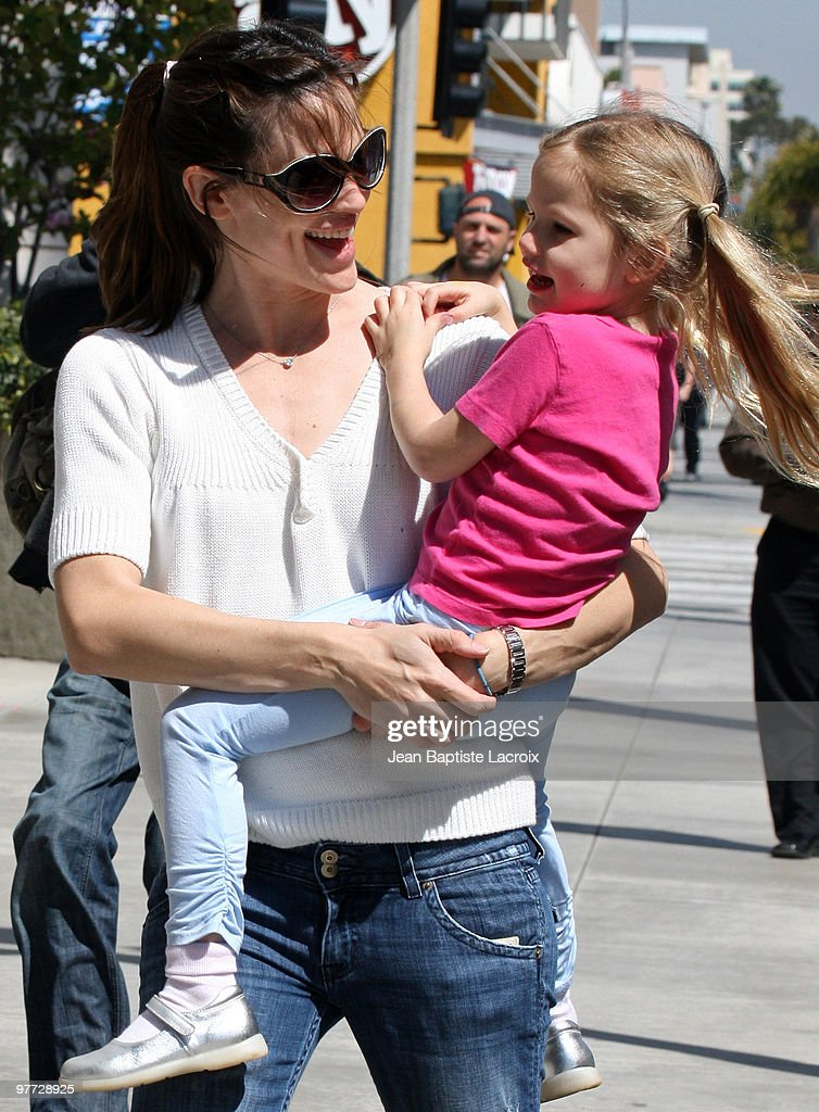 Jennifer Garner and Violet Affleck are seen on March 13, 2010 in Santa Monica, California.