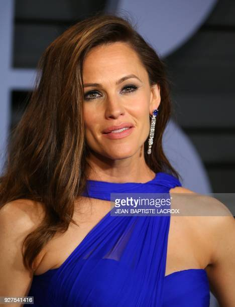 Jennifer Garner attends the 2018 Vanity Fair Oscar Party following the 90th Academy Awards at The Wallis Annenberg Center for the Performing Arts in...