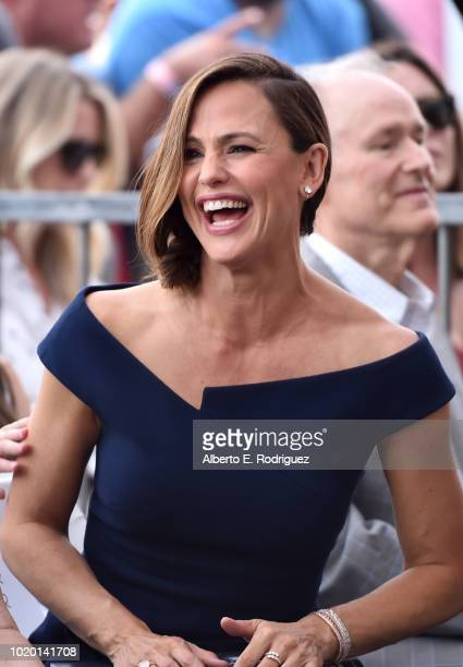 Actors Bryan Cranston and Jennifer Garner attend the ceremony honoring Jennifer Garner with the 2641st star on the Hollywood Walk Of Fame on August...