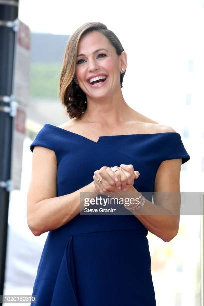 Jennifer Garner Bryan Cranston Honored With Star On The Hollywood Walk Of Fame on August 20 2018 in Hollywood California