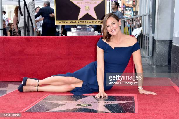 Jennifer Garner attends the ceremony honoring Jennifer Garner with a star on the Hollywood Walk Of Fame on August 20 2018 in Hollywood California