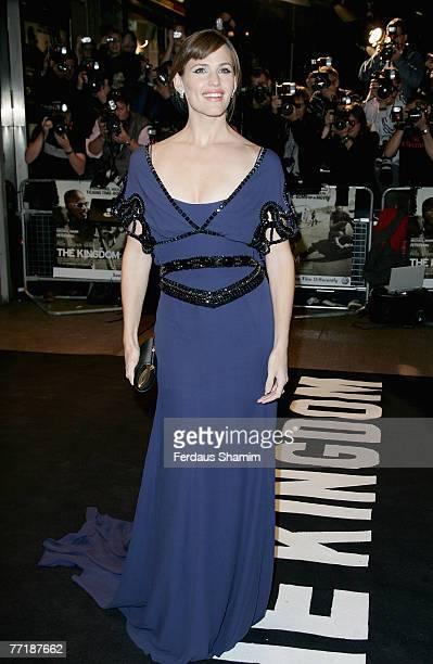 Jennifer Garner attends The Kingdom film premiere held at the Odeon West End on October 4, 2007 in London. .
