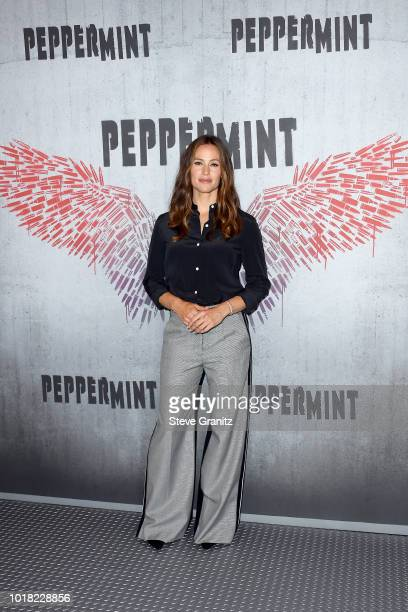 Jennifer Garner poses at the Photo Call For STX Films' 'Peppermint' at Four Seasons Hotel Los Angeles at Beverly Hills on August 17 2018 in Los...