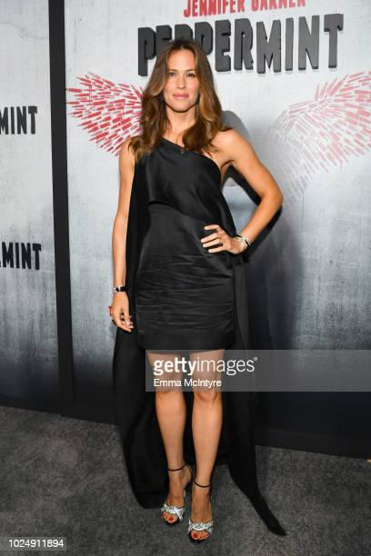 Jennifer Garner attends the premiere of STX Entertainment's Peppermint at Regal Cinemas LA LIVE Stadium 14 on August 28 2018 in Los Angeles California
