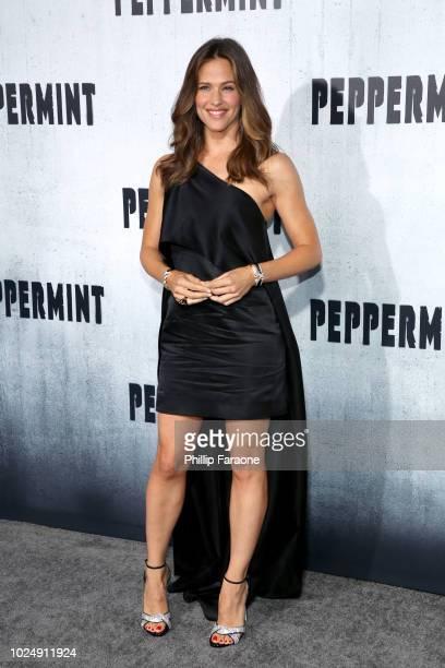Jennifer Garner attends the premiere of STX Entertainment's 'Peppermint' at Regal Cinemas LA LIVE Stadium 14 on August 28 2018 in Los Angeles...