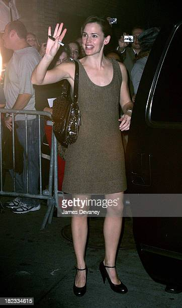 Jennifer Garner departs the Richard Rodgers Theatre after her broadway play performance in Cyrano de Bergerac in New York City on October 19 2007