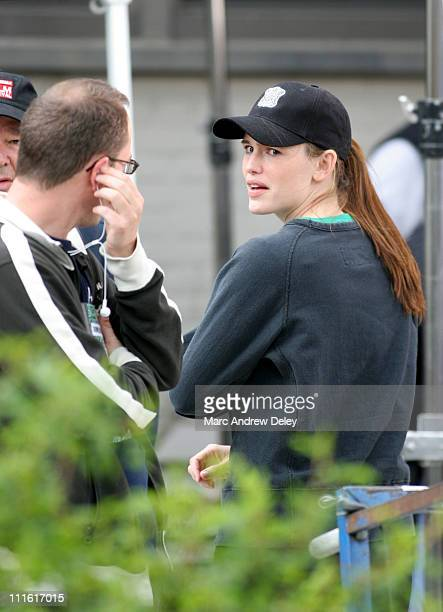 Jennifer Garner during Ben Affleck and Jennifer Garner on Location for ''Gone Baby Gone'' in Boston Mass May 24 2006 at on location in South Boston...