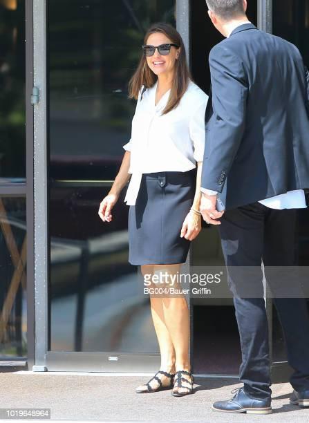Jennifer Garner is seen on August 19 2018 in Los Angeles California