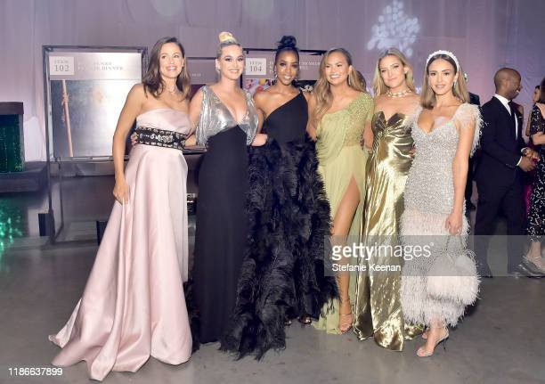 Jennifer Garner Katy Perry Kelly Rowland Chrissy Teigen Kate Hudson and Jessica Alba attend the 2019 Baby2Baby Gala presented by Paul Mitchell on...