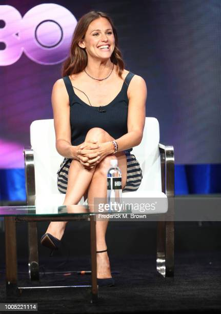 Jennifer Garner of 'Camping' speaks onstage during the HBO portion of the Summer 2018 TCA Press Tour at The Beverly Hilton Hotelon July 25 2018 in...