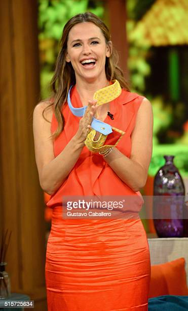 Jennifer Garner on the set Of Univisions Despierta America to promote Miracles From Heaven at Univision Studios on March 15 2016 in Miami Florida