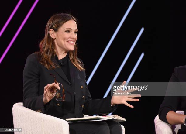 Jennifer Garner speaks onstage during The 2019 MAKERS Conference at Monarch Beach Resort on February 7 2019 in Dana Point California