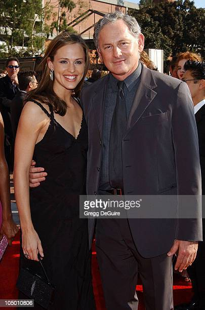 Jennifer Garner Victor Garber during 2002 Creative Arts Emmy Awards Arrivals at Shrine Auditorium in Los Angeles California United States