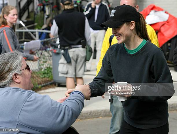 Jennifer Garner with fan during Ben Affleck and Jennifer Garner on Location for ''Gone Baby Gone'' in Boston Mass May 24 2006 at on location in South...