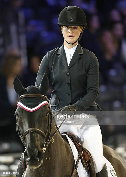 Jennifer Gates daughter of Bill and Melinda Gates competes during day 2 of the Gucci Paris Masters 2014 at Parc des Expositions on December 5 2014 in...