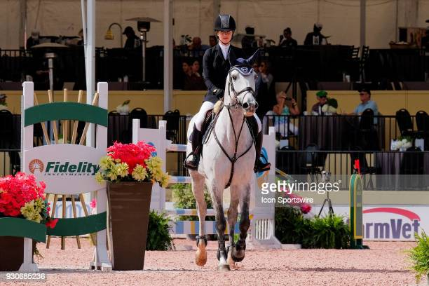 Jennifer Gates during the $70000 Hollow Creek 150M Classic at the Winter Equestrian Festival at The Palm Beach International Equestrian Center in...
