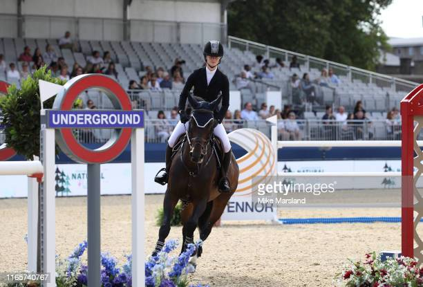 Jennifer Gates during the Longines Global Champions Tour of London 2019 at Royal Hospital Chelsea on August 02 2019 in London England