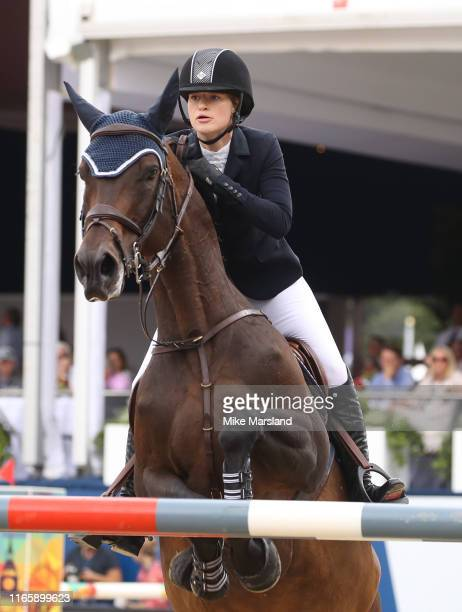 Jennifer Gates during the Longines Global Champions Tour of London 2019 at Royal Hospital Chelsea on August 03 2019 in London England