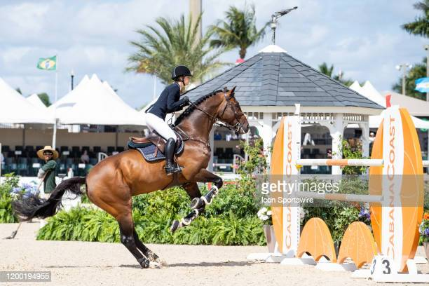 Jennifer Gates during the Winter Equestrian Festivals $73000 FEI CaptiveOne Advisors150m Classic at The Palm Beach International Equestrian Center in...