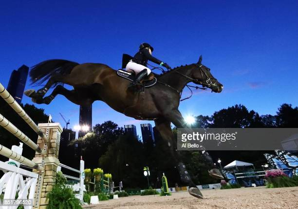 Jennifer Gates is up on Alex competing during the Rolex Central Park Horse Show at Central Park on September 22 2017 in New York City