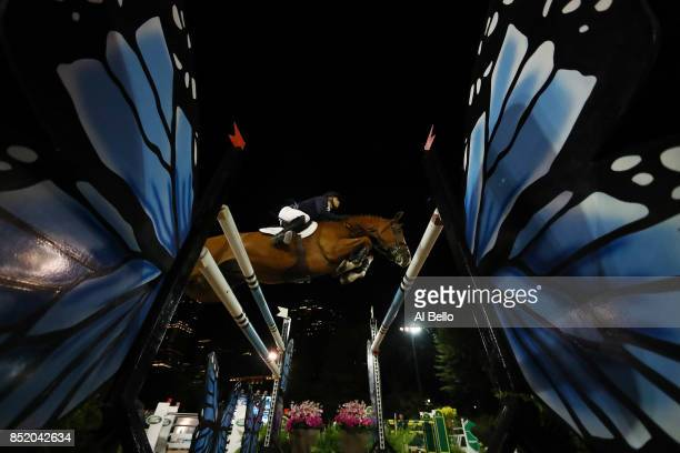 Jennifer Gates is up on Luftikus competing during the Rolex Central Park Horse Show at Central Park on September 22 2017 in New York City