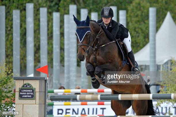 Jennifer Gates of The United States of America and Dolinn compete on day 1 of the 5th Longines Paris Eiffel Jumping on July 5 2018 in Paris France