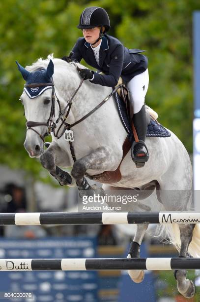 Jennifer Gates of The United States of America and Luftikus S compete on day 1 in the 4th Longines Paris Eiffel Jumping competiton on June 30 2017 in...