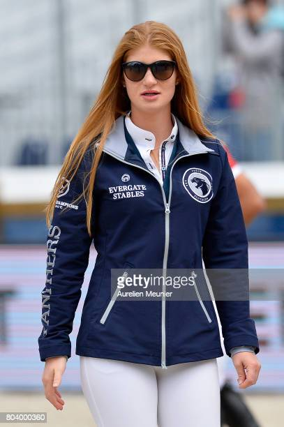 Jennifer Gates of The United States of America prepares to compete on day 1 in the 4th Longines Paris Eiffel Jumping competiton on June 30 2017 in...
