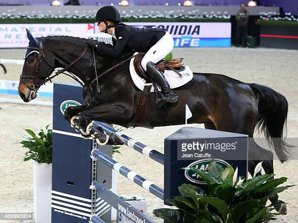 Jennifer Gates of USA daughter of Bill and Melinda Gates competes during day 1 of the Gucci Paris Masters 2014 at Parc des Expositions on December 4...