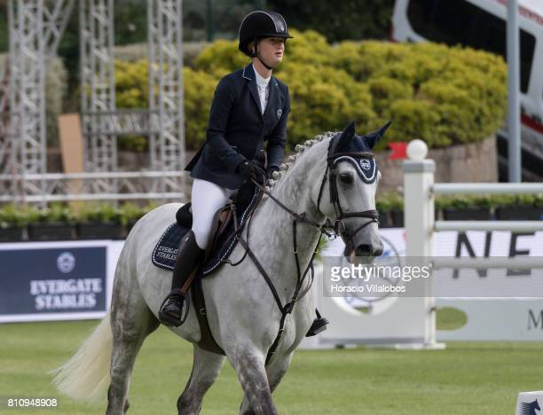 Jennifer Gates of USA during the CSI5 Global Champions League of Cascais Final against the clock team and individual jumping competition at the final...