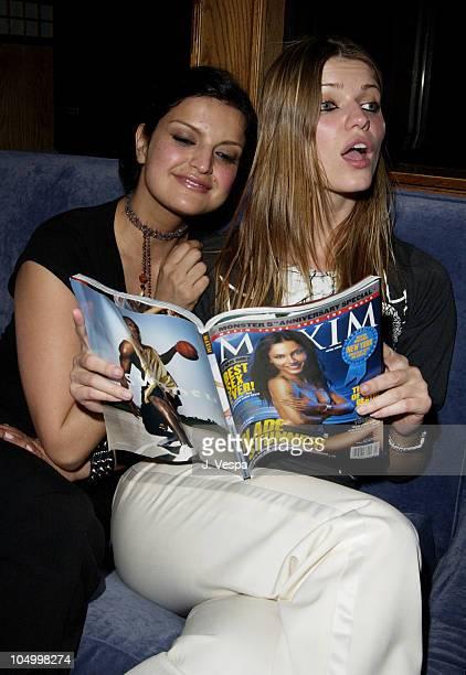 Jennifer Gimenez and Ivana Milicevic during Maxim Hot 100 Party Inside at Yamashiro in Hollywood California United States