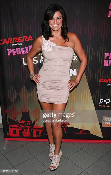 Jennifer Gimenez attends the Perez Hilton's 2011 One Night In Los Angeles Concert Series at The Wiltern on August 27 2011 in Los Angeles California