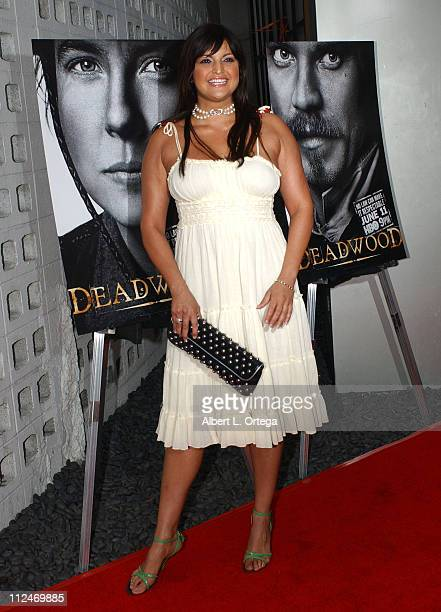 Jennifer Gimenez during Los Angeles Premiere of HBO's Deadwood Season 3 Arrivals at The Cinerama Dome in Hollywood California United States