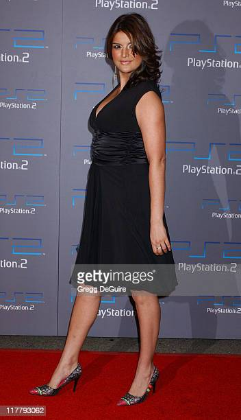 Jennifer Gimenez during Playstation 2 Offers A Passage Into The Underworld Arrivals at Belasco Theatre in Los Angeles California United States