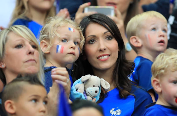 Jennifer Giroud Wife Of Frances Olivier And Their Daughter Jade In The Stands Before
