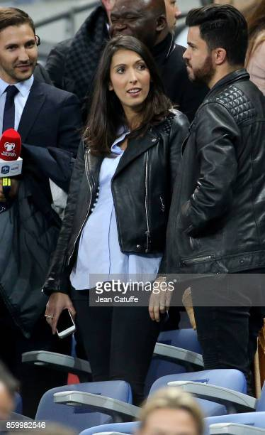 Jennifer Giroud wife of Olivier Giroud of France attends the FIFA 2018 World Cup Qualifier between France and Belarus at Stade de France on October...