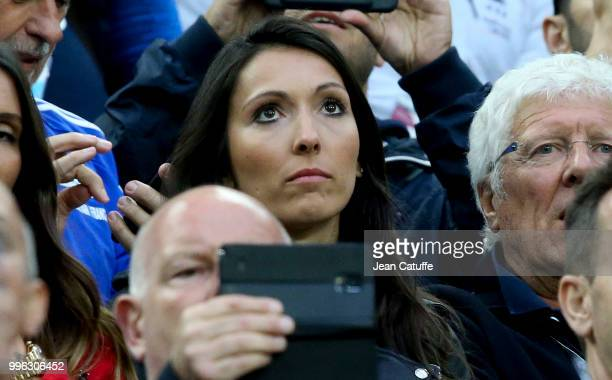 Jennifer Giroud wife of Olivier Giroud of France during the 2018 FIFA World Cup Russia Semi Final match between France and Belgium at Saint...