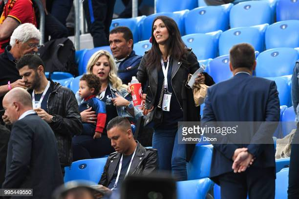 Jennifer Giroud wife of Olivier Giroud of France during the Semi Final FIFA World Cup match between France and Belgium at Krestovsky Stadium on July...