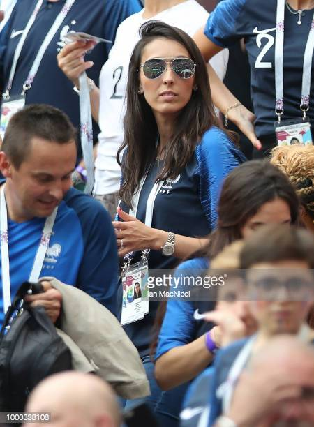Jennifer Giroud wife of Olivier Giroud of Franceis seen during the 2018 FIFA World Cup Russia Final between France and Croatia at Luzhniki Stadium on...