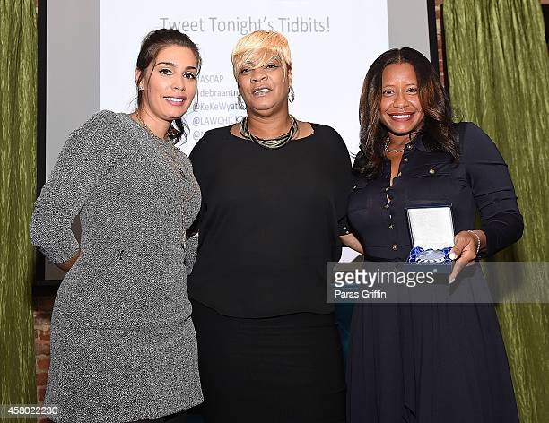 Jennifer Goicoechea Deb Antney and Omara S Harris onstage at the ASCAP Rhythm And Soul Presents Women Behind The Music Atlanta Edition at Negril...
