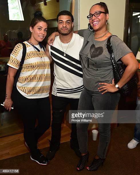 Jennifer Goicoechea DJ Sence and Cannon Kent attend the Mila J Playback Session at Patchwerk Recording Studios on June 10 2014 in Atlanta Georgia
