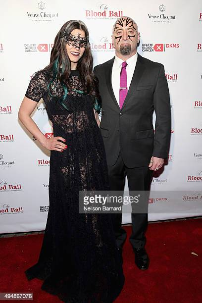 Jennifer Goldstein and Todd Weinberger attend The Blood Ball 2015 at The Box on October 29 2015 in New York City