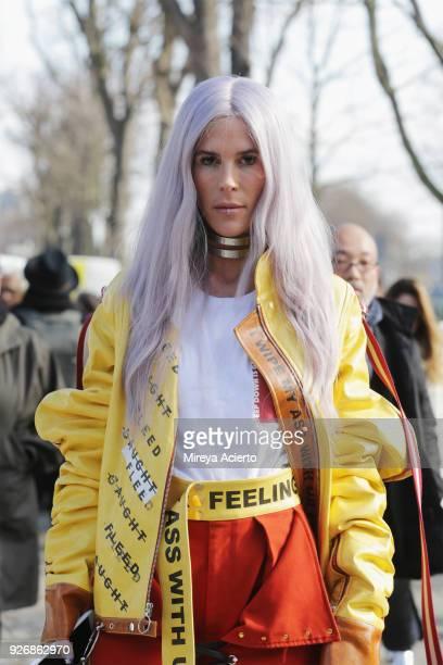 Jennifer Grace attends Paris Fashion Week Womenswear Fall/Winter 2018/2019 on March 3 2018 in Paris France