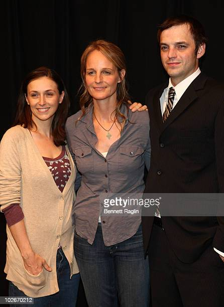 Jennifer Grace Helen Hunt and James McMenamin attends Helen Hunt's first performance with the cast of Our Town Off Broadway at the Barrow Street...