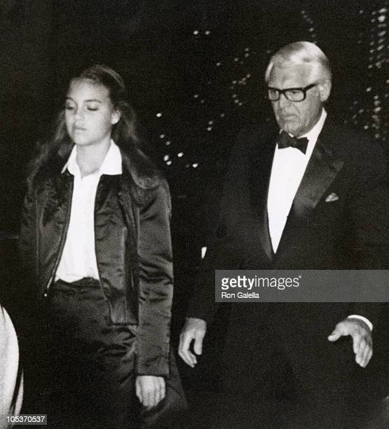 Jennifer Grant and Cary Grant during 12th Annual Academy of Arts Awards at Beverly Wilshire Hotel in Beverly Hills California United States