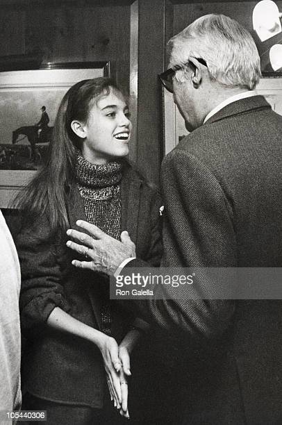 Jennifer Grant and Cary Grant during Ahmet Ertegun's Sunday Brunch at Fairfax Hotel in Washington DC Washington DC United States