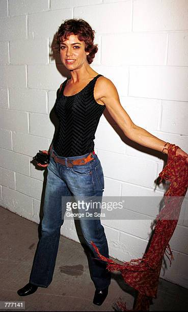 Jennifer Grant daughter of actor Cary Grant and actress Dyan Cannon attends the Rock N Road Rally August 3 2000 at the Pier 59 Studios at Chelsea...