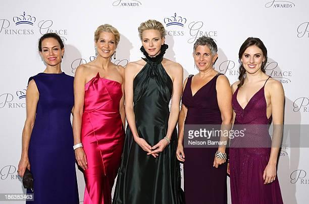Jennifer Grant Paula Zahn HSH Princess Charlene of Monaco Wendy Levy and Tiler Peck attend the 2013 Princess Grace Awards Gala at Cipriani 42nd...